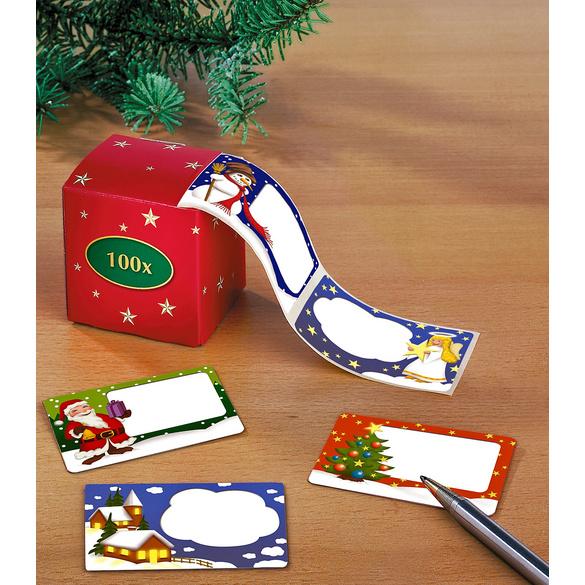 100 Weihnachtsetiketten