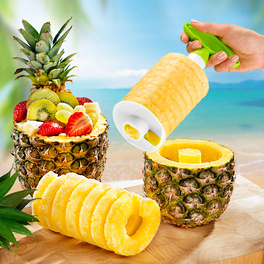 Ananas-Schneider grün-weiß
