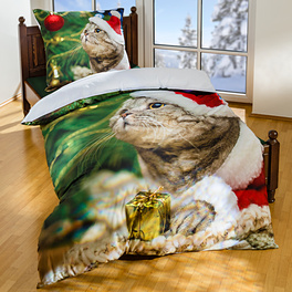 """Bettwäsche""""Weihnachtskätzchen"""", 2-tlg."""