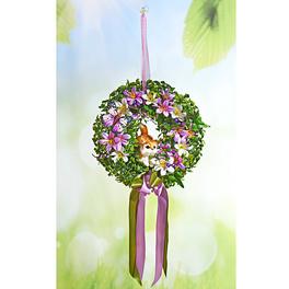 Blumenkranz mit Katze, lila
