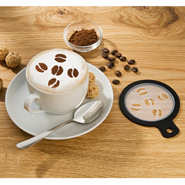 Cappuccino-Schablonen, 4er-Set