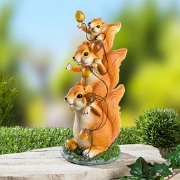 Eichörnchen mit Solar-Lichterkette