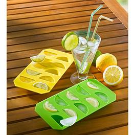 """Eiswürfelbereiter """"Zitrone"""" gelb + grün, 2er-Set"""