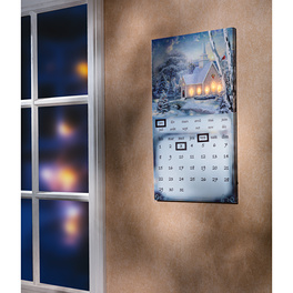 "Ewiger LED-Kalender ""Winterlandschaft"""