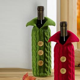Flaschenüberzug grün