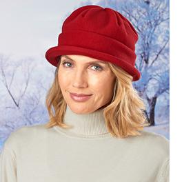 Fleece-Mütze rot
