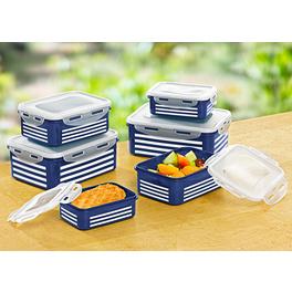 """Frischhaltedosen """"Streifen"""" blau-weiß, 12-tlg."""