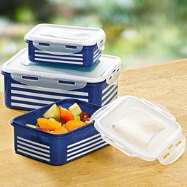 """Frischhaltedosen """"Streifen"""" blau-weiß, 6-tlg."""