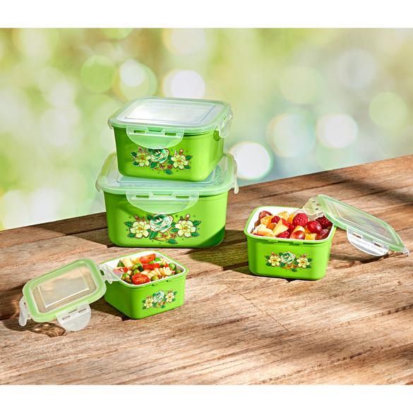 Frischhaltedosen grün, 4er-Set