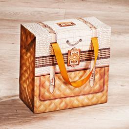 Geschenktaschen hoch, goldfarben