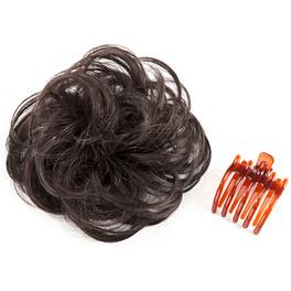 Haar-Band mit Clip dunkelbraun