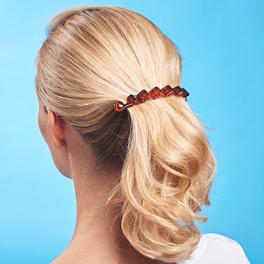 """Haarspange """"Welle"""" braun"""
