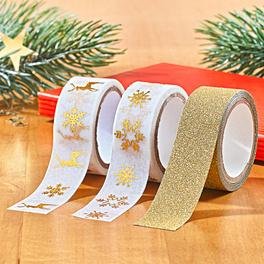 """Klebeband """"Weihnachten"""", 3er-Set"""