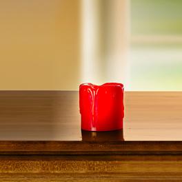 LED-Kerze rot, Höhe 5 cm