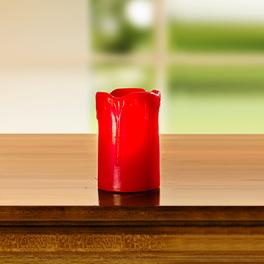LED-Kerze rot, Höhe 7,5 cm