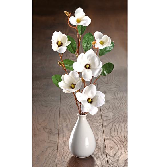 Magnolienzweige weiß, 2er-Set
