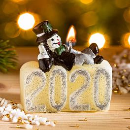 """Neujahrskerze 2020 """"Schornsteinfeger"""""""