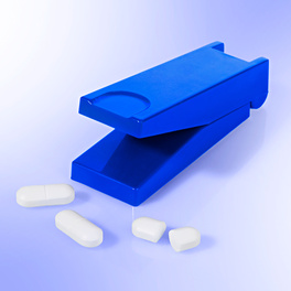 Pillenschneider blau