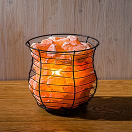 Salzkristall-Leuchte