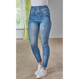 Slim-Jeggings jeans-dunkelblau used