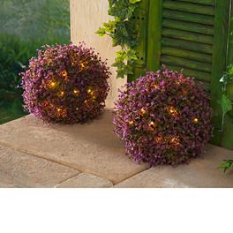 Solar-Blütenkugeln, 2er-Set