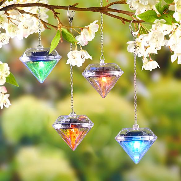 "Solarleuchten ""Diamant"", 4er-Set"