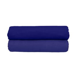 Spannbettlaken dunkelblau, 2er-Set