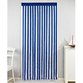 Türvorhang blau-weiß