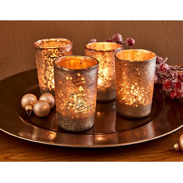 Teelichtglas altsilberfarben 39889000 | 3PAGEN