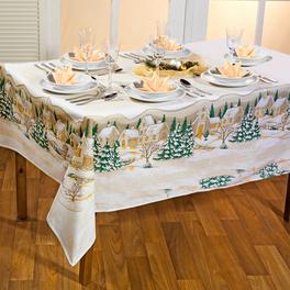 Tischdecke gold 140 x 170 cm