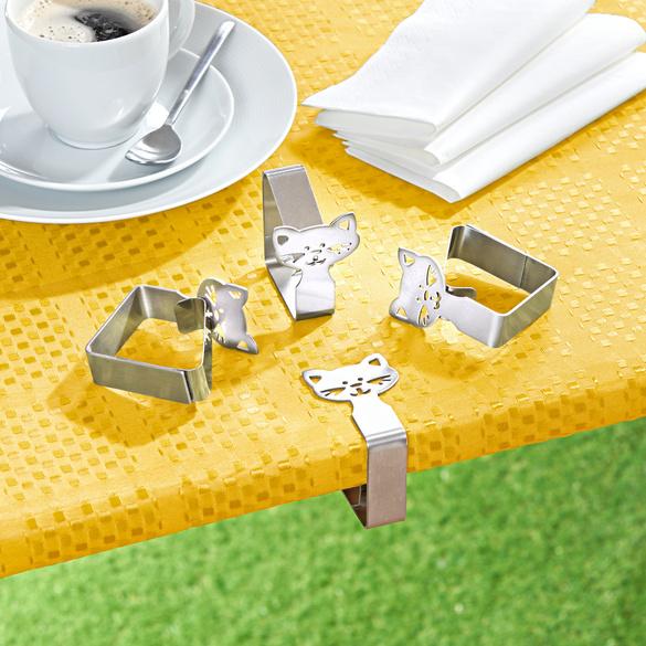 """Tischtuchhalter """"Katze"""", 4er-Set"""