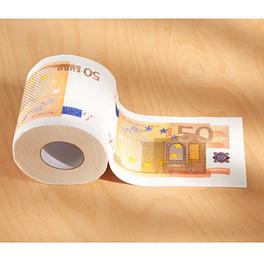 "Toilettenpapier ""50 €"""