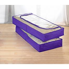 Unterbett-Kommoden lila, 2er-Set