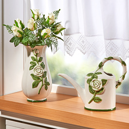 """Vase """"Weiße Rosen"""""""