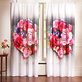 "Vorhang ""Rosen"", 140 x 140 cm"