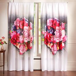"Vorhang ""Rosen"", 140 x 230 cm"