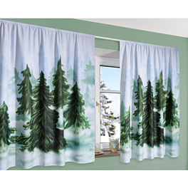 "Vorhang ""Winterwald"", 140 x 140 cm"