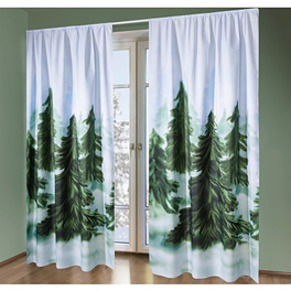 "Vorhang ""Winterwald"", 140 x 230 cm"