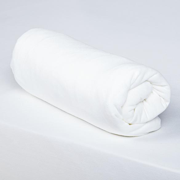 Spannbettlaken weiß, 160 x 200 cm