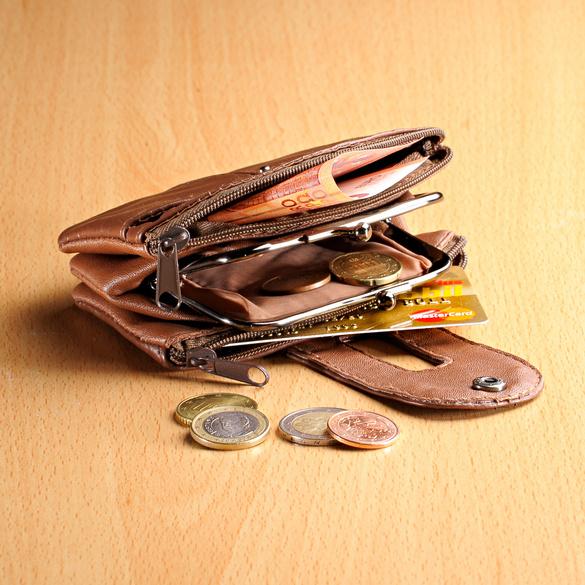 Geldbörse für Damen braun