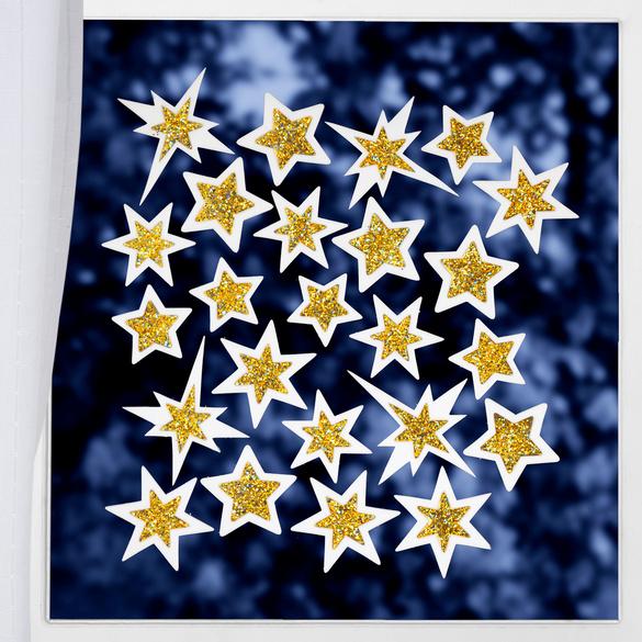 """Fensterbild """"Sterne"""", 24-tlg."""