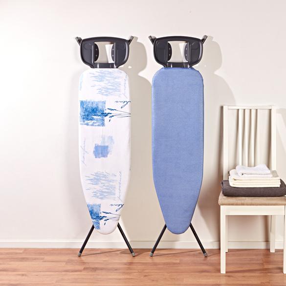 Bügelbrettbezug silberblau