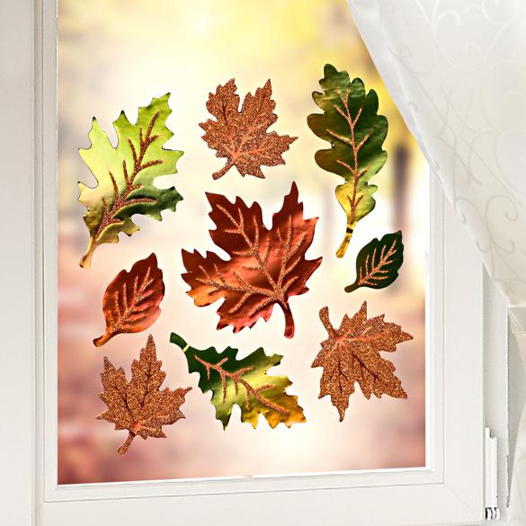"""Soft-Fensterbilder """"Herbstlaub"""""""
