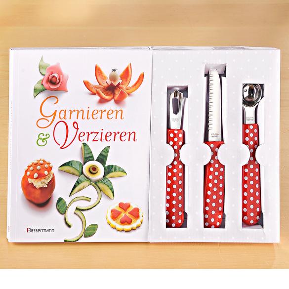 Buch + Garnier-Set, 4-tlg.