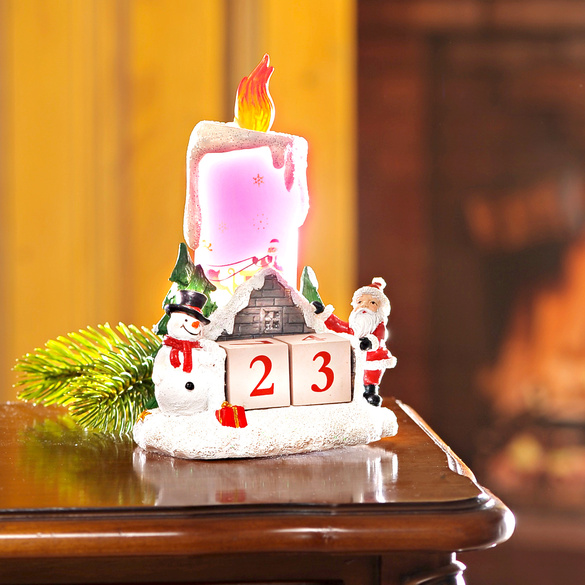 LED-Adventskerze mit Countdown