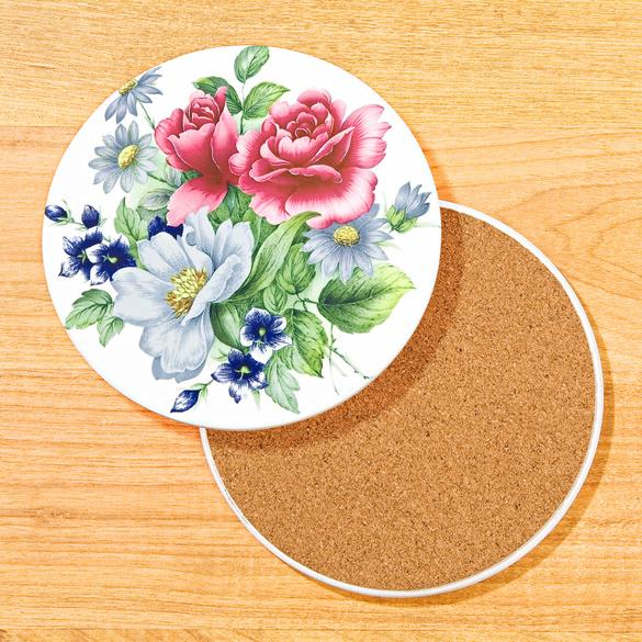 "Keramikuntersetzer ""Blütentraum"""