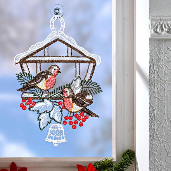 """Fenster-Deko """"Vogelhäuschen"""""""