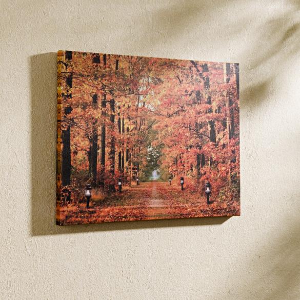 "LED-Bild ""Herbstwald"""