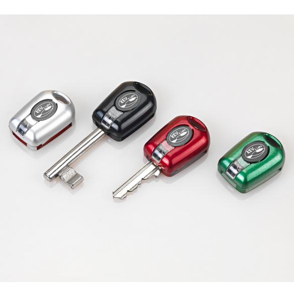 LED-Schlüssellichter schwarz/silber/grün/rot, 4er-Set