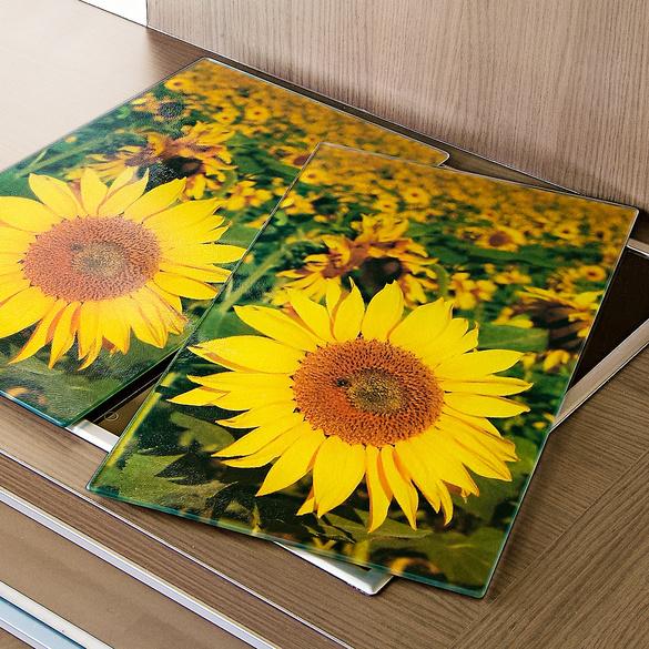 "Herd-Abdeckplatten"" Sonnenblumen"""